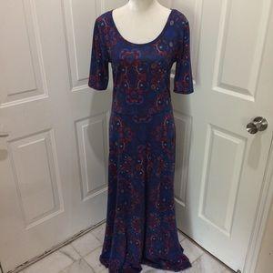 LulaRoe | Modest Long Ana Maci Dress Paisley Print